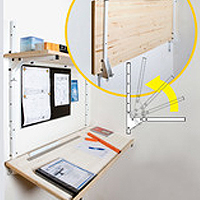 Shipping Container Shelving System (Drafting Table Set)