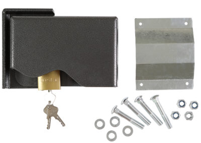 Shipping Container Lock Box with Pad Lock Set