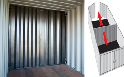 Building a wall in your shipping container? Use the Insta Divider Wall!